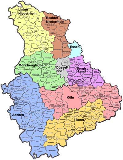 Karte Niederrhein.Karte Fahrlehrerverband Nordrhein Fahrlehrerverband Nordrhein E V